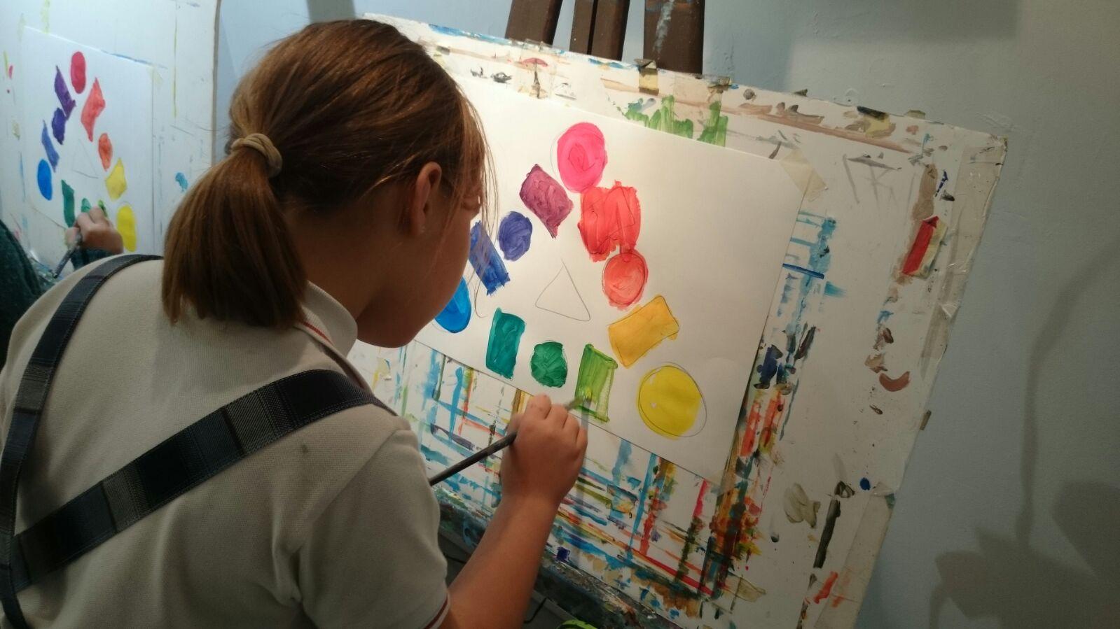 Minicurso de pintura para ni os aula galiart oviedo mukina - Pintura acrilica pared ...