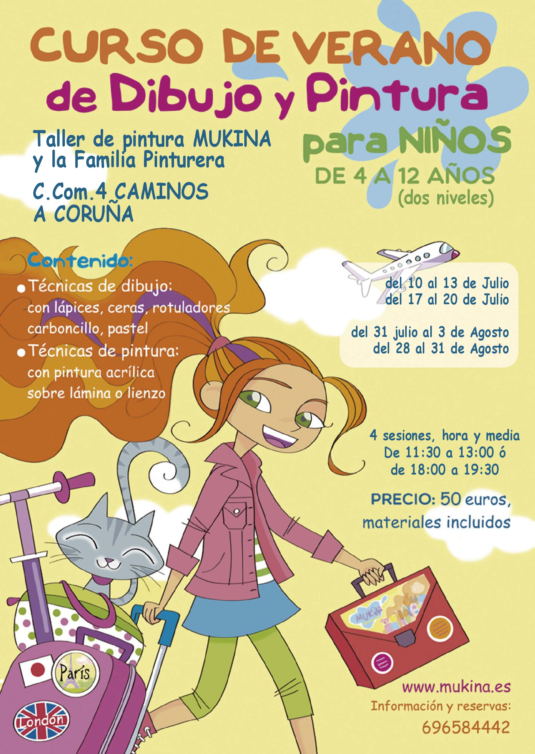 Curso de Verano de Dibujo y Pintura para Niños en A Coruña - Mukina